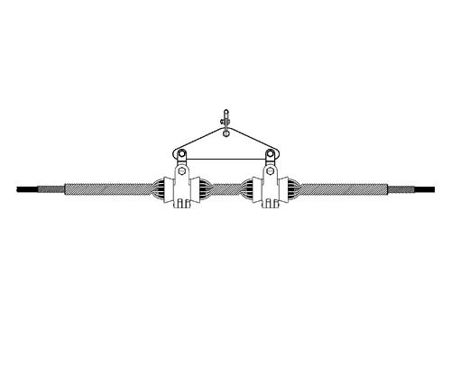 ADSS光缆双悬垂线夹,光缆悬垂线夹