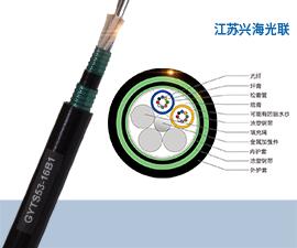 GYTS53光缆 16芯GYTS53光缆,铠装地埋光缆